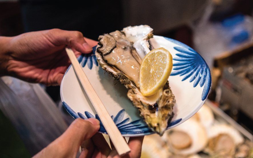 Japanese Oysters Tsukiji Market Tokyo Luxury Travel Regency Group
