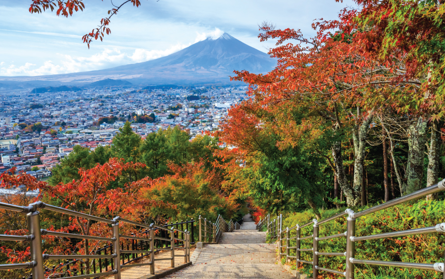 Stairway to Mt. Fuji Fujiyoshida Japan