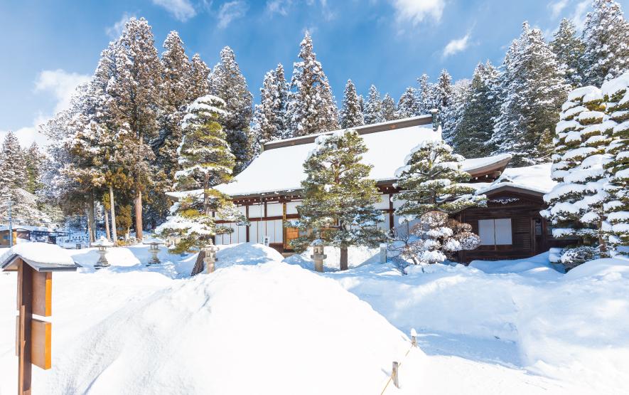Higashiyama Temple trail in Takayama Japan